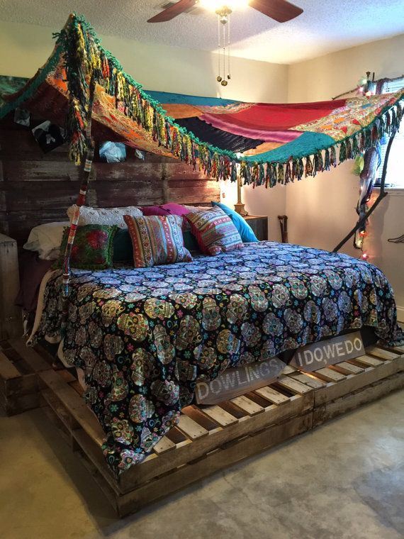 Boho Gypsy Canopy Bedspread Tent Wedding by ChasingPeaceMarket