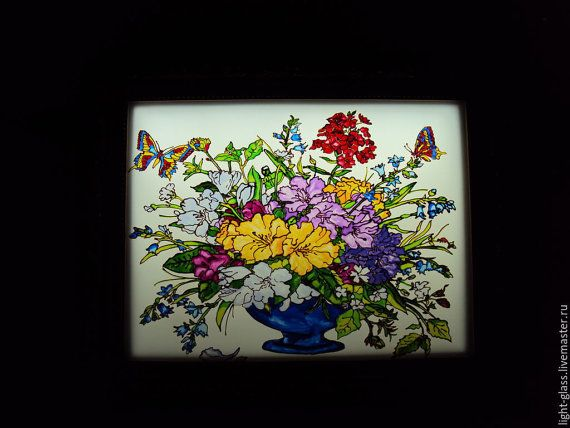 STAINEDGLASSLAMP Lamp stained glass Floral mix от Stainedglasss500