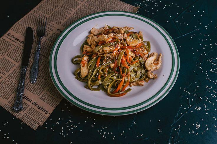 ПРЕДЗАКАЗ Правильного Питания 6.03 - 12.03 (СПБ и МСК) | ВкусНаДом - доставка продуктов и рецептов. Паста со шпинатом и курицей.
