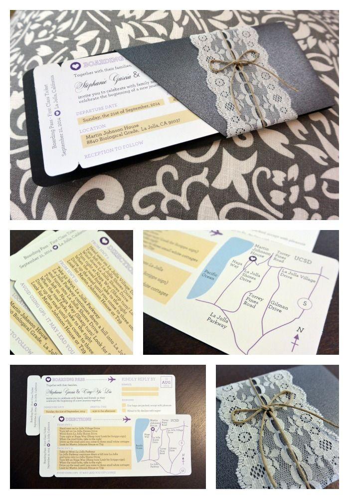 DIY Boarding Pass Wedding Invitation Template - Free Download