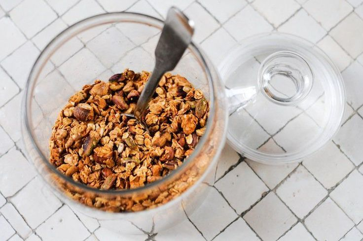 Basic Granola Formula Recipe - tried it with the ground flax added and was pleased with the results despite being wary of the small amount of liquid