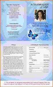 Free Printable Obituary Program Template. 1000+ Images ...