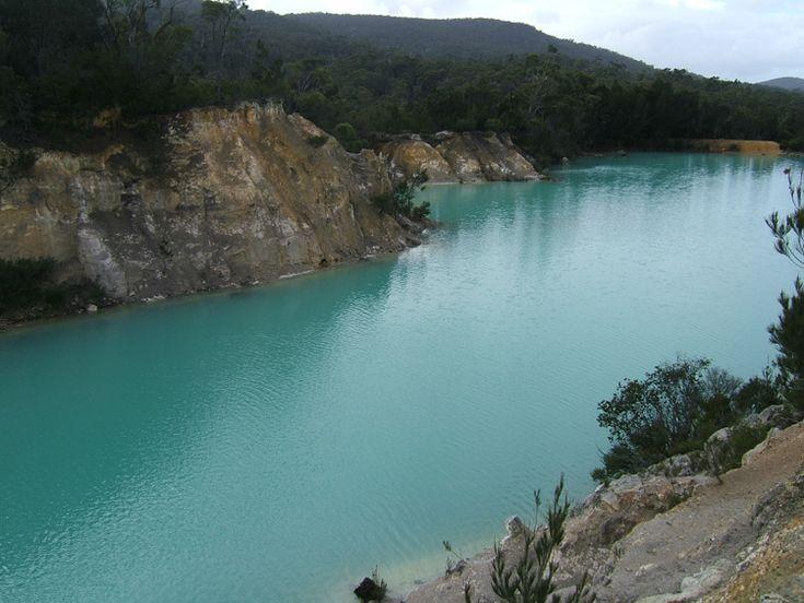 Small Blue Lake near Derby, Tasmania.