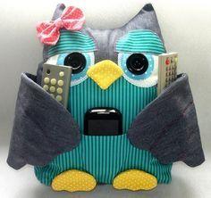 Ideas para el hogar: Almohadas búhos con bolsillos patrón de costura