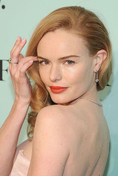 Auch Stars wie Kate Bosworth bekennen sich zu orangen Lippen. #trend2014 #orange #makeuptrend