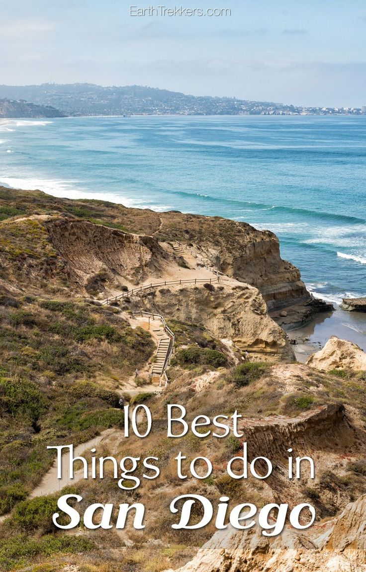 Best things to do in San Diego: La Jolla Cove, USS Midway Museum, SeaWorld, San Diego Zoo, and more.