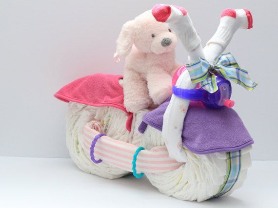 Diaper Motorcycle Baby Gift, Baby Shower Gift, Unique Baby gift, Baby Shower Centerpiece