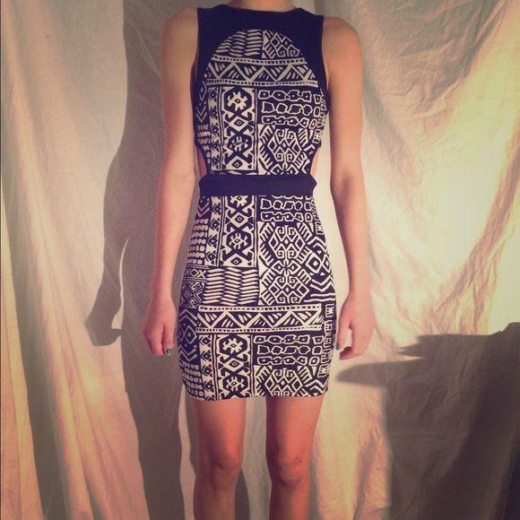 Aztec party dress super comfy, cutouts on the sides to show curve PacSun Dresses Mini