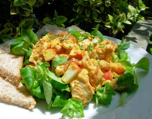 Salat hahnchen curry