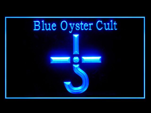 Blue Oyster Cult Bar Display Led Light Sign B