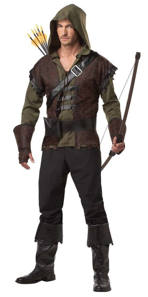 Robin Hood Costume Adult Robin Hood Fancy Dress Medieval Fancy Dress Costume