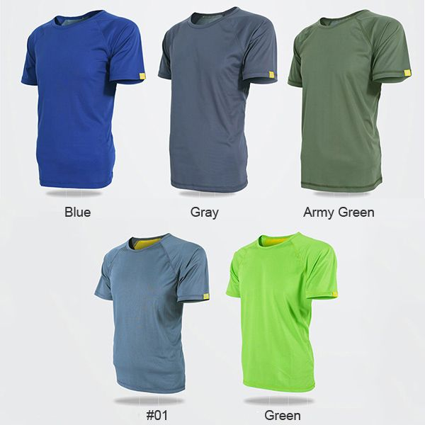 JOZSI Mens Quick-dry Outdoor Solid Color Round Neck Tees Sports Running Casual Short Sleeve T-shirt