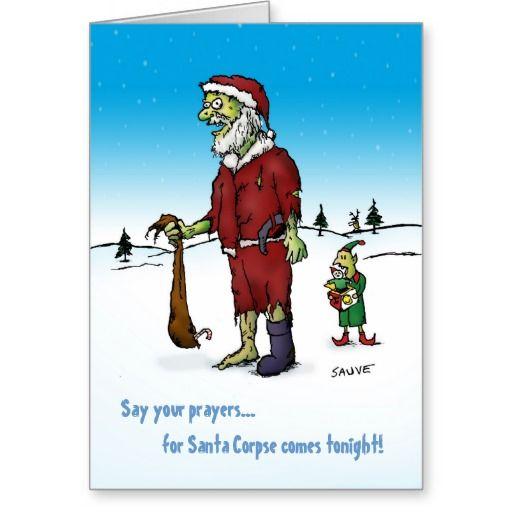 Santa Corpse Zombie Holiday Card