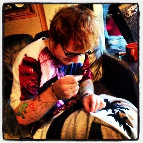 Ed sewing <3 ... This fandom made me really weird like, I'm giggling because of a man sewing WHY FANDOM WHY