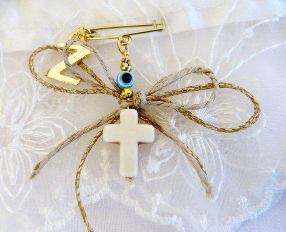 Witness pins Martirika Martyrika White Howlite Cross by VessCrafts