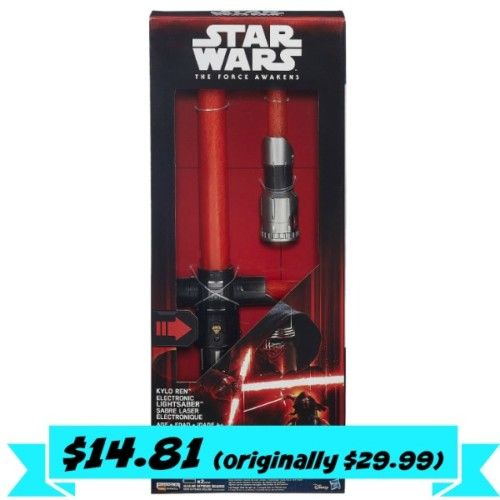 Kmart: Disney Star Wars The Force Awakens Kylo Ren Deluxe Electronic Lightsaber for $14.81 (originally $29.99) - Couponing to Disney
