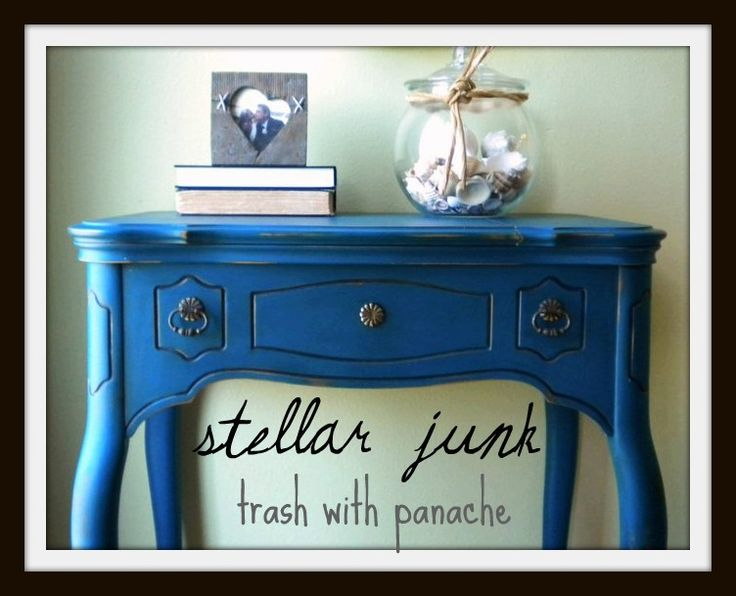 cute sewing cabinet: Projects, Furniture Makeovers, Diy Furniture, Stellar Junk, Blue Color, Furniture Redo, Junk Awesome, Blue Tables, Photo