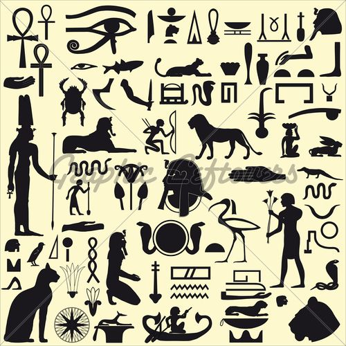 Kemetic Zodiac   Ancient Egyptian Symbols And Signs.Collection O...