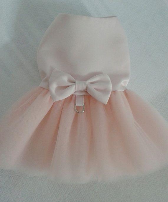 Dog Blush Pink Wedding Dress By Woofsandruffles