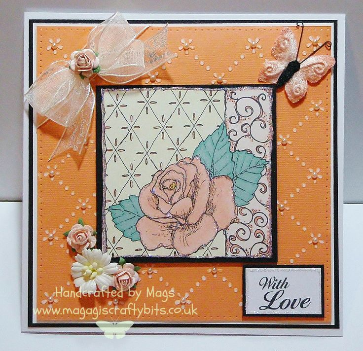 Rose decoupage stamp and daisy embossable stencil