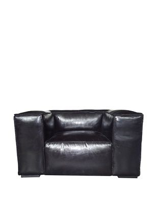 80% OFF CDI Eaton Vintage Leather Chair, Black