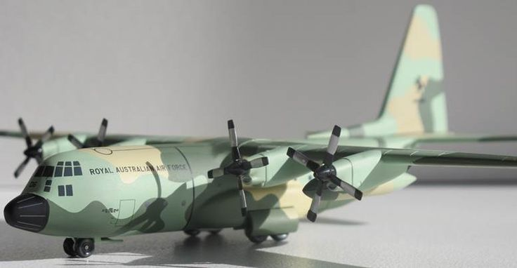 Defence Gifts -  Hogan Wings 4593  RAAF C130H 36 Sqn A97-006 Standard Camo Scheme, $120.00 (http://www.defencegifts.com.au/hogan-wings-4593-raaf-c130h-36-sqn-a97-006-standard-camo-scheme/)