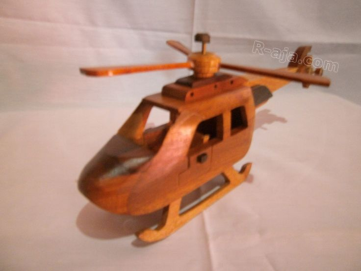 Handicraft Miniature Wooden Helicopter made of Wood.