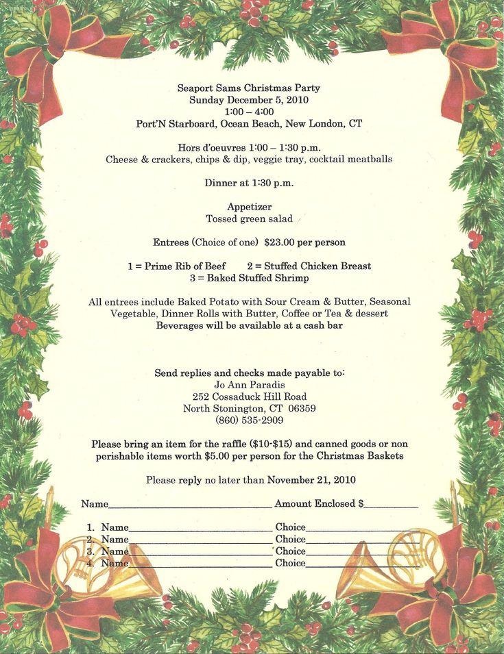 sample christmas program template christmas party program