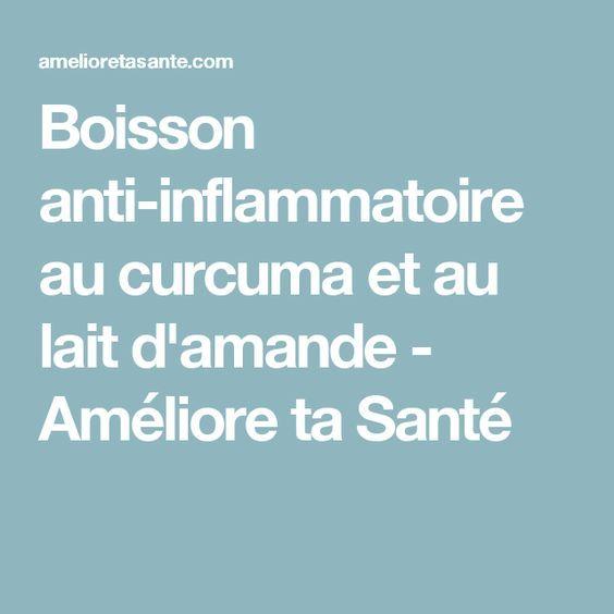 Boisson anti-inflammatoire au curcuma et au lait d'amande - Améliore ta Santé