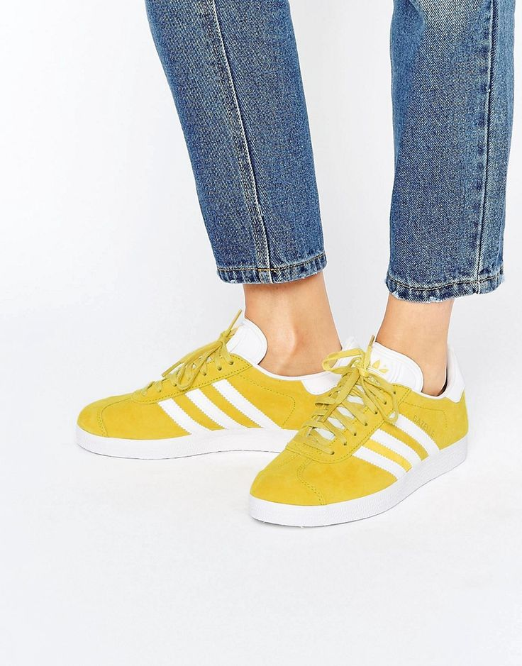 Buy it now. adidas Originals Bright Yellow Suede Gazelle Unisex Trainers - Yellow. Trainers by Adidas, Suede upper, Lace-up fastening, Branded tongue and cuff, Padded for comfort, Chunky sole, Moulded tread, Wipe with a damp sponge, 50% Other Materials, 50% Real Leather Upper. ABOUT ADIDAS Founded more than 60 years ago, Adidas is one of the most iconic streetwear brands in the world. Its unparalleled ability to fuse fashion and function is evident in its sleek trainers in featherweight…