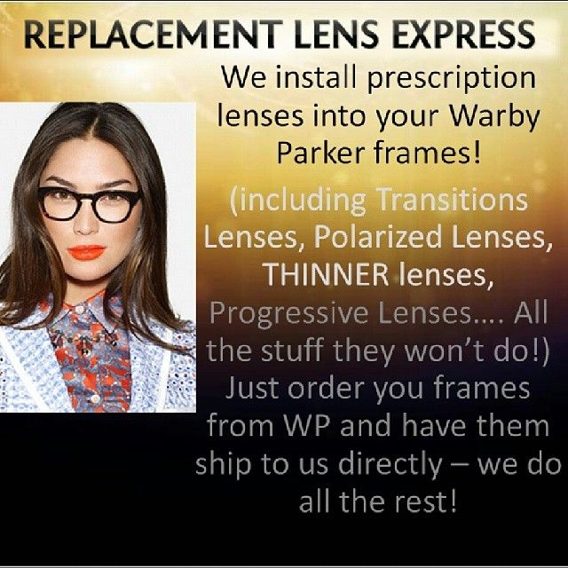 1ce5d78beb Get Prescription Lenses Put Into Frames