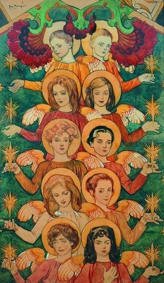 Józef Mehoffer, Angels