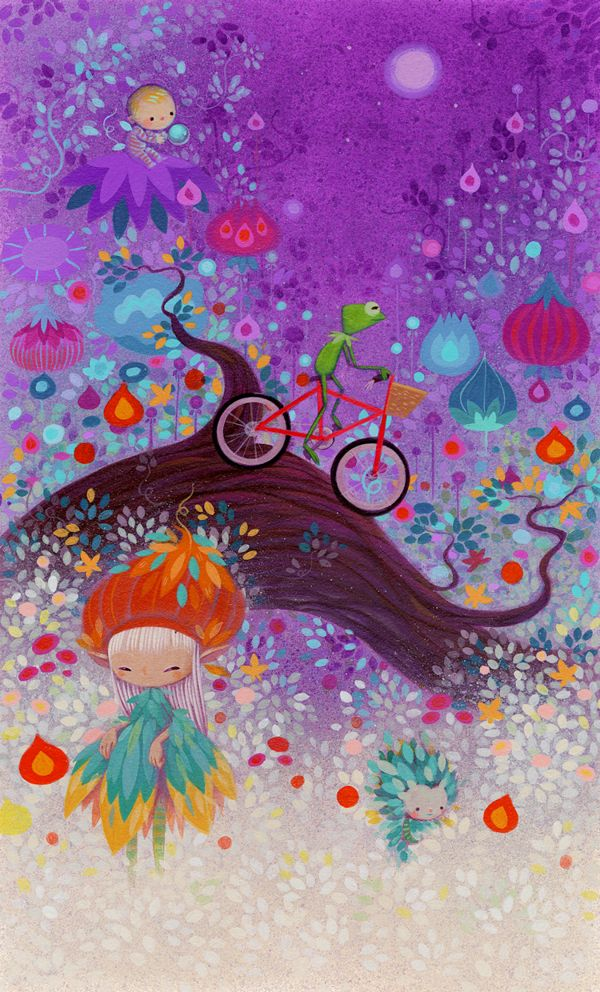 "My First Bike. Her piece for the exhibition ""The Lovers, The Dreamers, and Me"" at Gallery Nucleus. It is her personal tribute to Jim Henson."