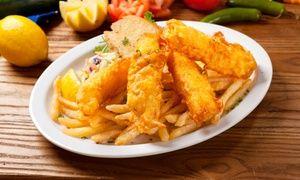 Mexican-inspired seafood menu includes cajun salmon burritos, grilled mahi mahi tacos, and deep-fried or charbroiled fish plates