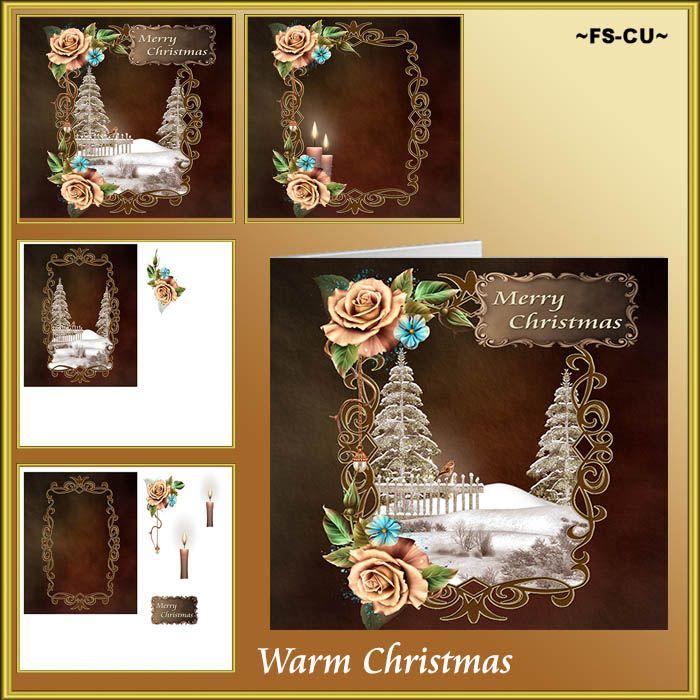 Warm Christmas CU card making [kaysha- warm christmas] : Scrap and Tubes Store, Digital Scrapbooking Supplies