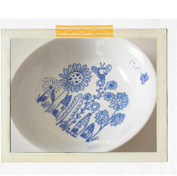 pianted porcelain plates | Flickr: partage de photos!
