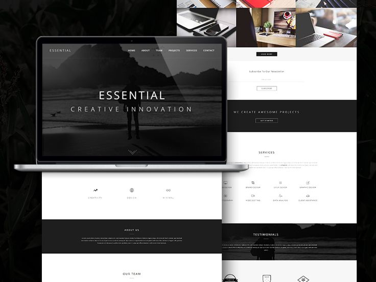 Essential - Responsive Minimal One Page WordPress Theme by RB Web Design