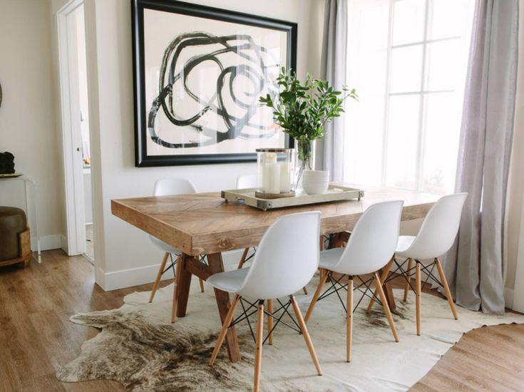 Teppich unter Esstisch? So wählen Sie Größe, Material und Farben