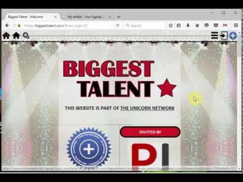 Biggest Talent registration tutorial. Biggest Talent-talent contest, previously named I Wanna Be Famous. https://biggesttalent.com/?refid=9d01d
