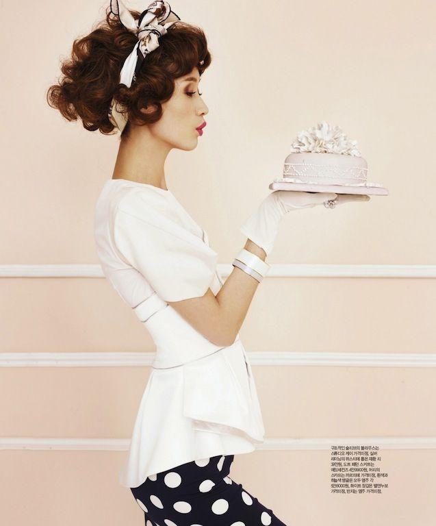 """The Dessert Lady"": Sera Park by Kim Youngjun for Singles Korea"