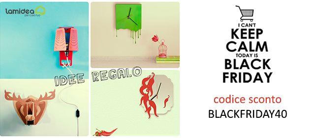 ULTERIORI RIBASSI DEL 40% #blackfriday #black #friday #venerdi #sconti #natale #christmas #gift #ideas #off