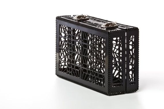 laser cut wood clutch from Amy Davidson Bags
