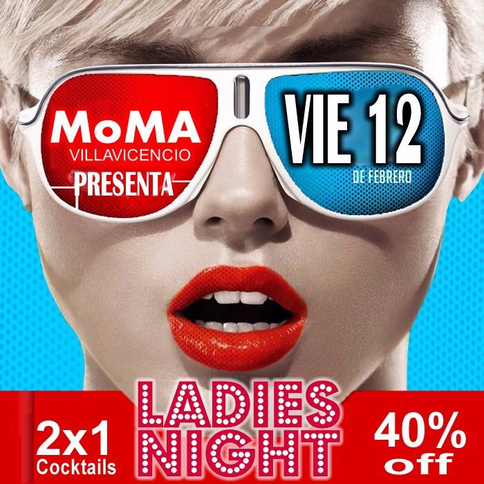 Hoy noche de chicas...y todos aprovechamos los descuentos que ellas tienen en MoMa Bar -->40% off en licores y cocteles 2x1...la mejor atención y musica para ellas. #ComoTeQuieroViernes