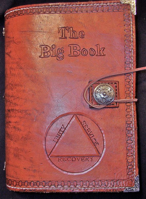 Leather Craft Book Cover : Alcoholics anonymous leather big book cover by