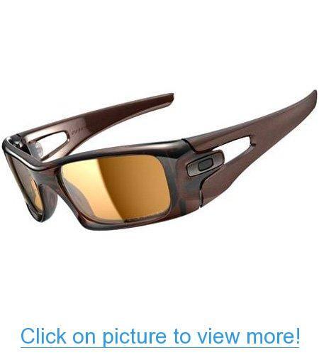 Oakley Crankcase Men's Polarized Lifestyle Sports Sunglasses - Polished Rootbeer/Bronze