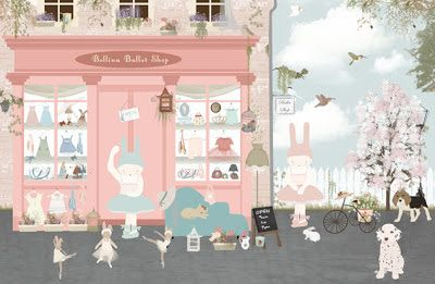 little hands: Bellina Ballet Shop - Wallpaper