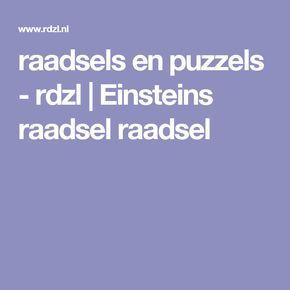 raadsels en puzzels - rdzl | Einsteins raadsel raadsel