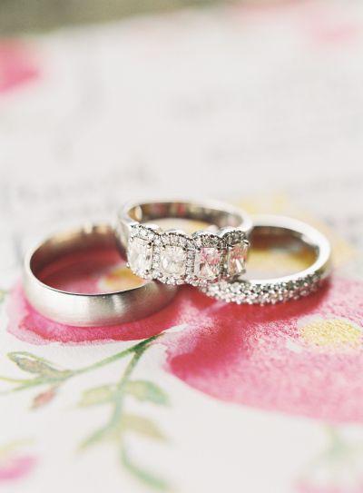 Quattro diamond ring: www.stylemepretty... Photography: Brett Heidebrecht - bret...