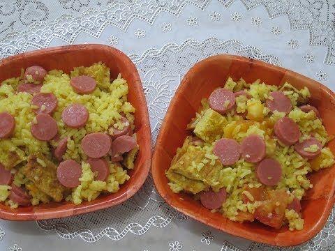 Arroz con Salchicha y Huevo