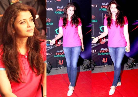 Aishwarya Rai Bachchan flaunts slimmer frame at Pro Kabaddi league opening match (view pics)